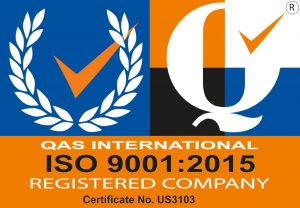 QAS International ISO 9001:2015 Registered Company Certificate No. US3103
